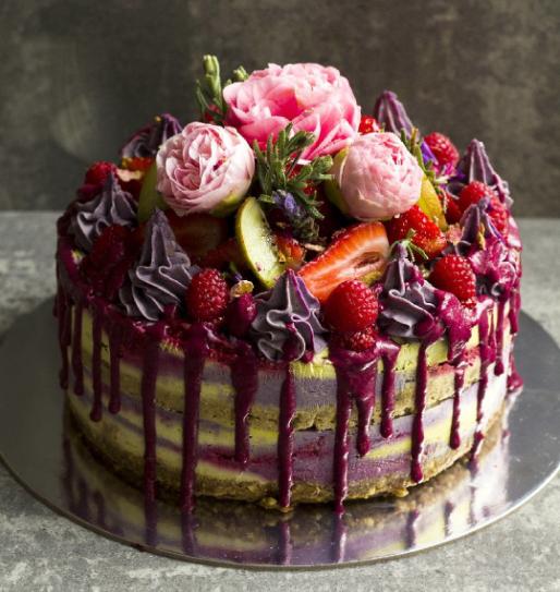 Eat Canberra Rainbow Nourishments vegan cake